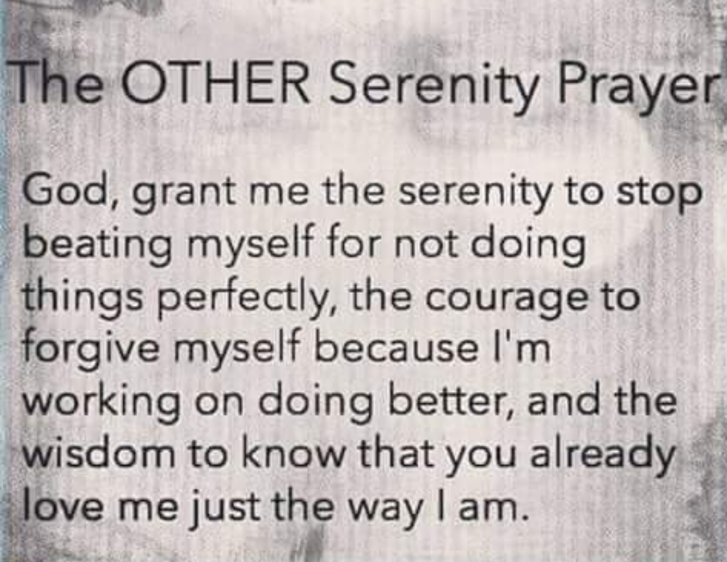photo about Serenity Prayer Printable named The Other Serenity Prayer Enthusiasm AND Psychological